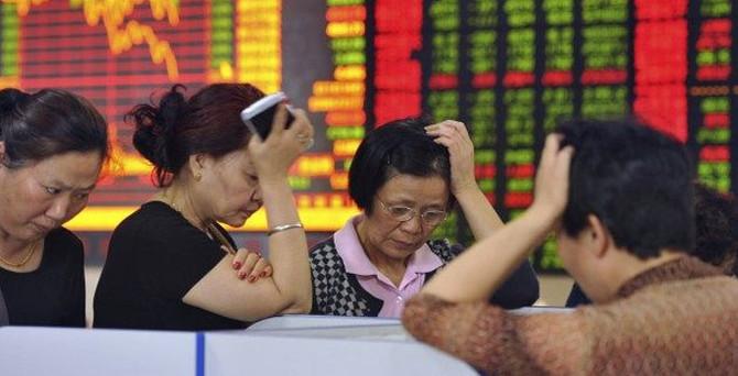 Çin'de altı yılın en kötü aylık kaybı