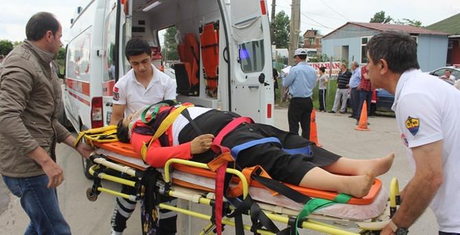 Samsun'da trafik kazası: 1 ölü 5 yaralı