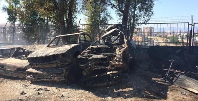 İzmir'de sanayi sitesinde yangın