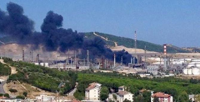 Tüpraş İzmir rafinerisinde çıkan yangın söndürüldü