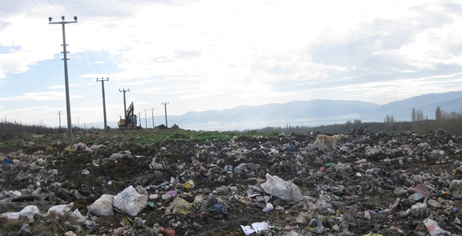Bursa'da çöplükler yeşil alana dönüyor