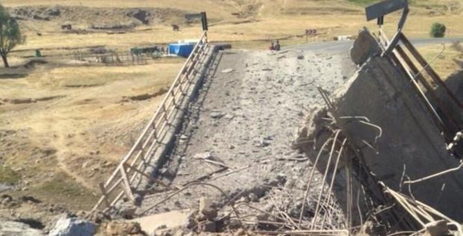 PKK, köprüyü havaya uçurdu