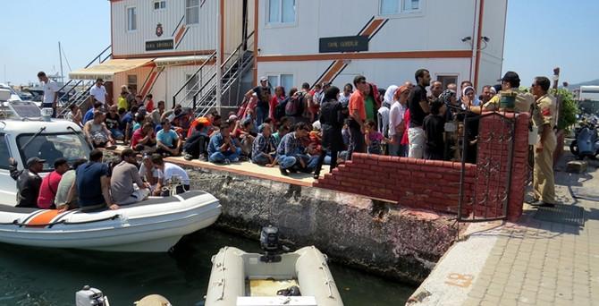 Ege Denizi'nde 414 kaçak yakalandı