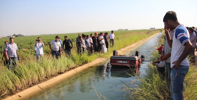 Otomobil sulama kanalına düştü:1 ölü