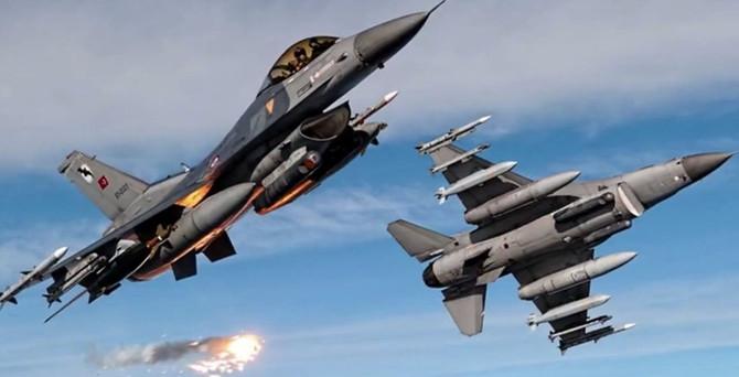 21 uçakla Kuzey Irak'a operasyon