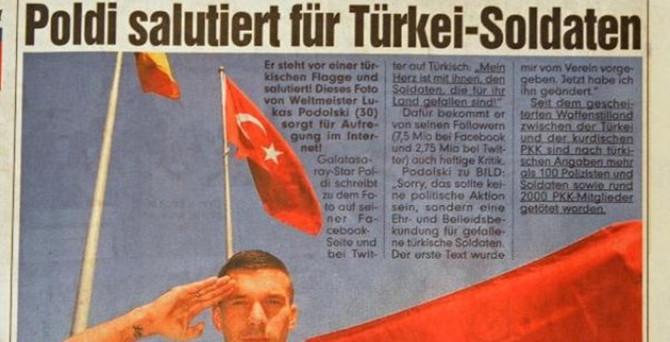 Podolski Almanya'yı karıştırdı