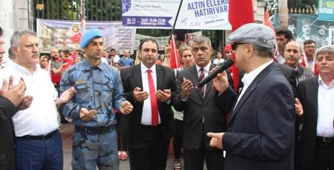 Galatasaray'da terör protestosu