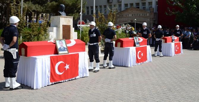 Şehit polisler  uğurlandı