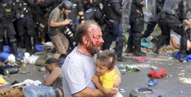 Sığınmacılara sert müdahale