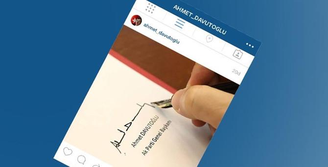 Davutoğlu da Instagram'a katıldı