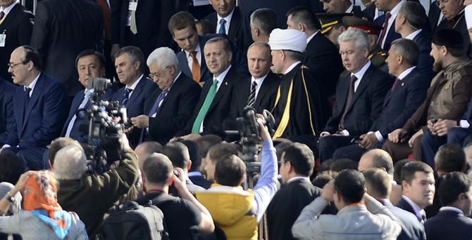 Erdoğan, Putin'le birlikte Moskova Merkez Camii'nin açılışını yaptı
