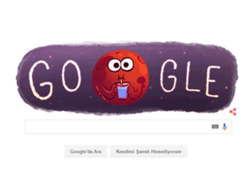 Google'dan 'Mars'a özel logo