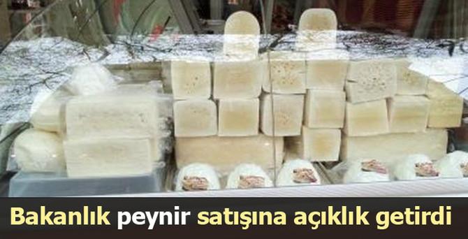 Bakanlık peynir satışına açıklık getirdi