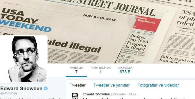 Snowden Twitter'da