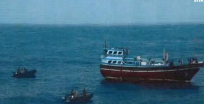 Koalisyon güçleri İran teknesine el koydu