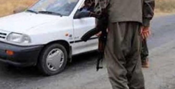 Teröristler kargo aracının sürücüsünü öldürdü