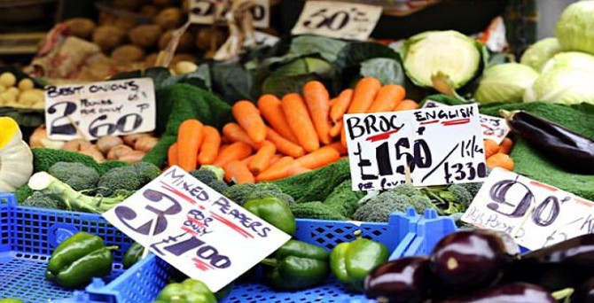 İngiltere'de enflasyon yüzde 0,1 yükseldi
