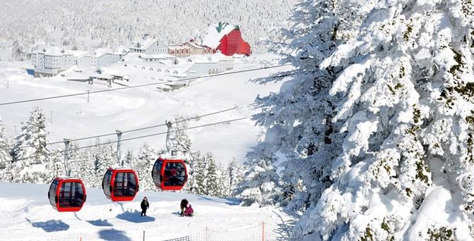 Uludağ'a düşen kar işletmecileri sevindirdi