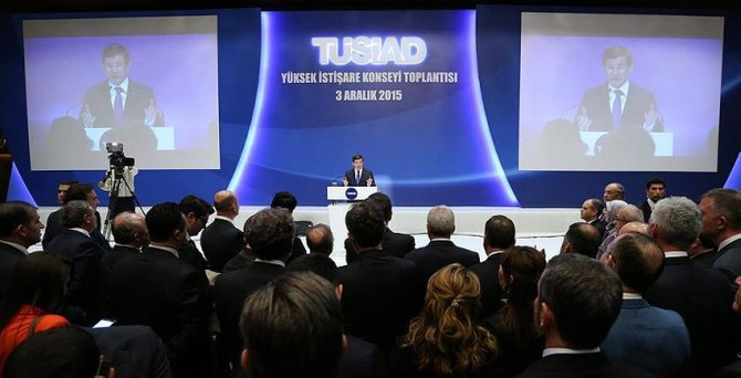 Başbakan Davutoğlu TÜSİAD'da