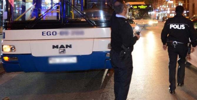 Başkentte belediye otobüsüne saldırı