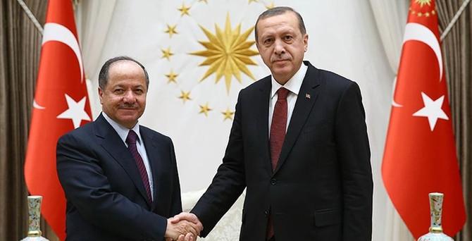 Erdoğan ve Davutoğlu, Barzani ile görüştü