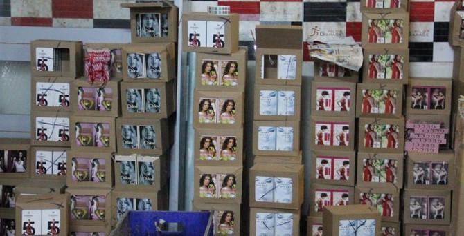 1 milyon şişe sahte parfüm ele geçirildi