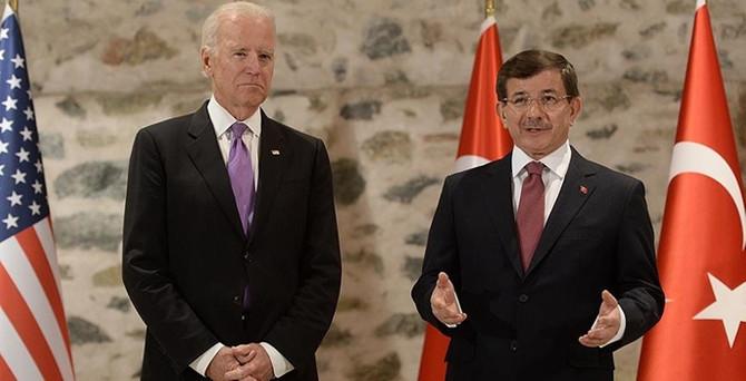 Davutoğlu, Biden ile görüştü