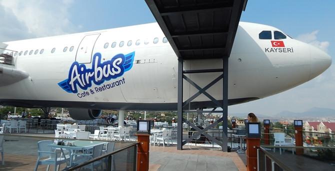 Türkiye'de bir ilk AİRBUS uçak Kayseri'de