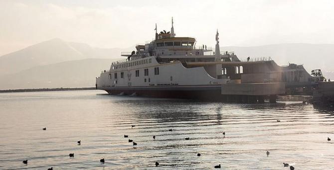 Türkiye'nin en büyük feribotundan ilk sefer