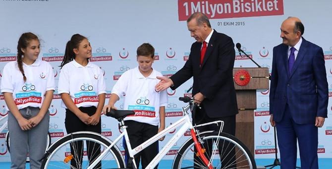 Yeni yılda 300 bin bisiklet dağıtılacak