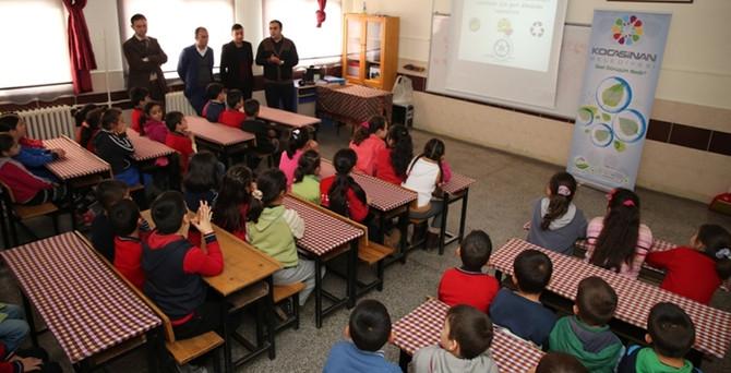 Kayseri'de öğrencilere geri dönüşüm eğitimi