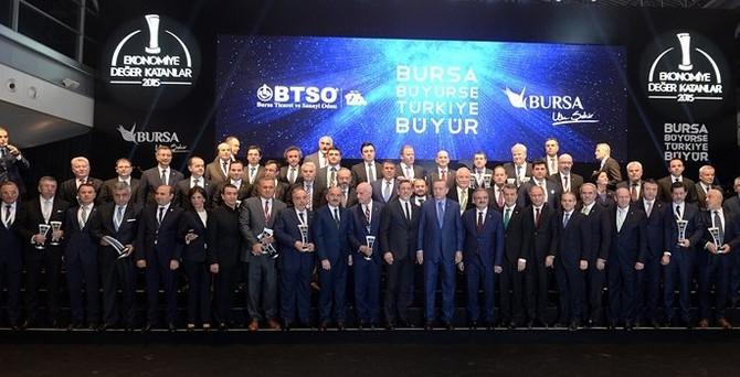 Bursa'nın devleri ödüllendirildi