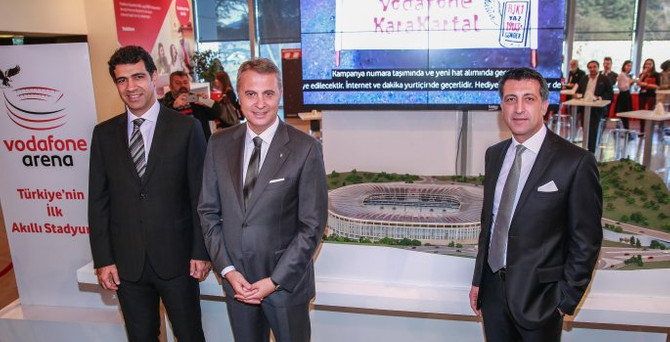 Vodafone'dan Beşiktaş'a 1.5 milyon lira