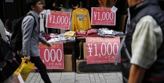 Japonya'da enflasyon sıfıra geri döndü