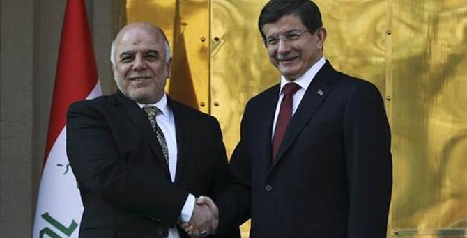 Başbakan Davutoğlu, İbadi'yi tebrik etti