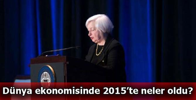 Dünya ekonomisinde 2015'in en önemli olayları