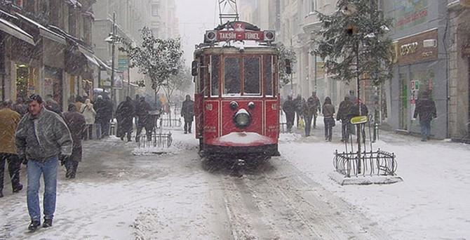 Kar İstanbul'u terkediyor