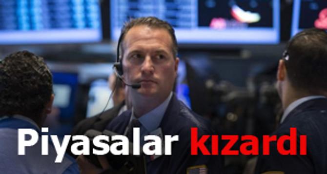 Piyasalar kızardı