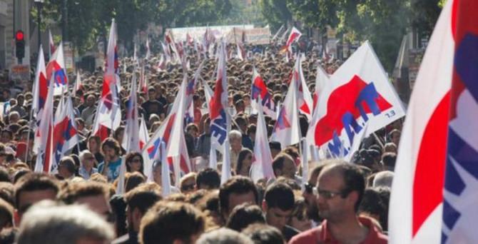 Yunanistan'da emeklilik reformu protestosu