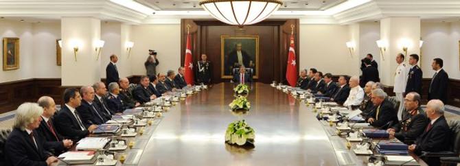 Erdoğan, MGK üyesi bakanlarla bir araya geldi