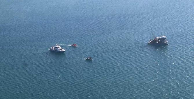 Karaya oturan Yunan botu kurtarıldı