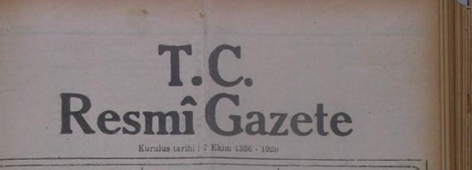 Resmi Gazete'de bugün
