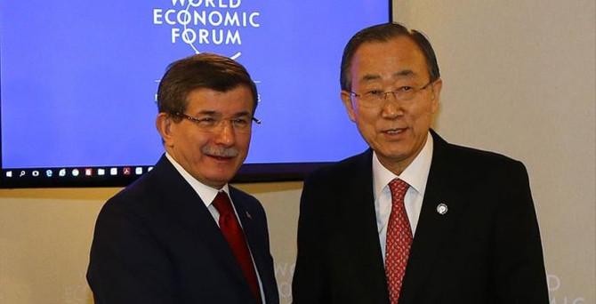 Davutoğlu'ndan Davos'ta yoğun diplomasi