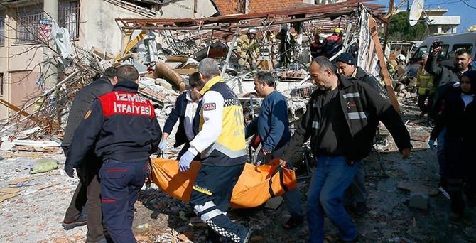 İzmir'de patlama: 1 ölü, 2 yaralı