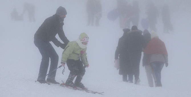 Uludağ'da kar kalınlığı 2 metreye ulaştı