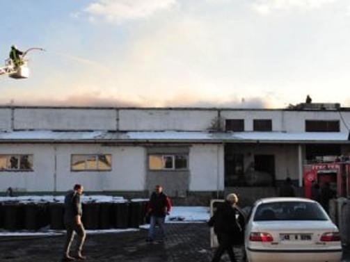 Gıda fabrikasında yangın
