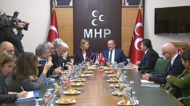 AB heyetinden MHP'ye ziyaret