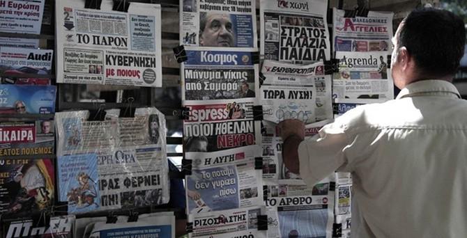 Yunanistan'da gazeteciler greve gitti