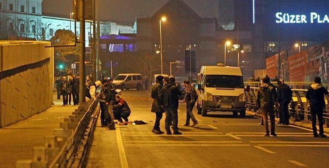 Beşiktaş'ta şüpheli kişi vurularak durduruldu