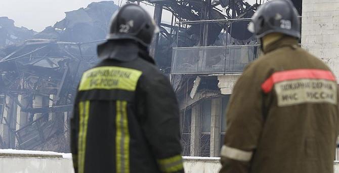 Moskova'da fabrika yangını: 12 ölü
